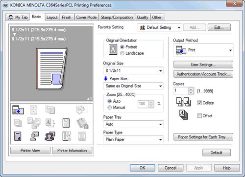 configuring the default settings of the printer driver Laser Printer Toner Cartridge Laser Printer Toner Cartridge