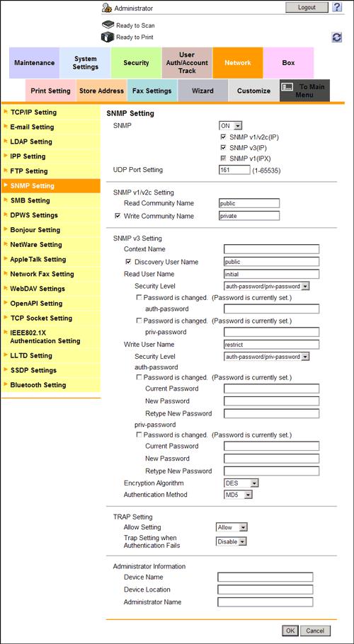 Managing the Machine via SNMP