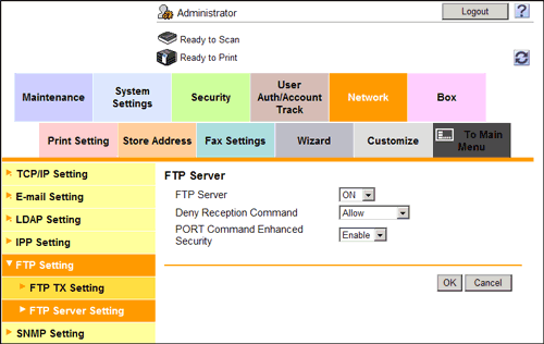 Using the Machine FTP Server for Association