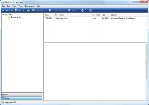 télécopie et numérisation windows 7