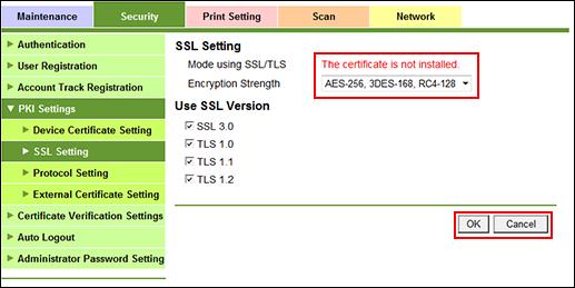 Enable SSL