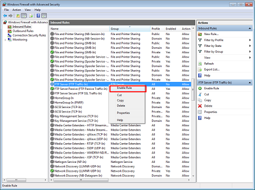 Scanner: Using Scan to FTP on Windows 7 FTP Server