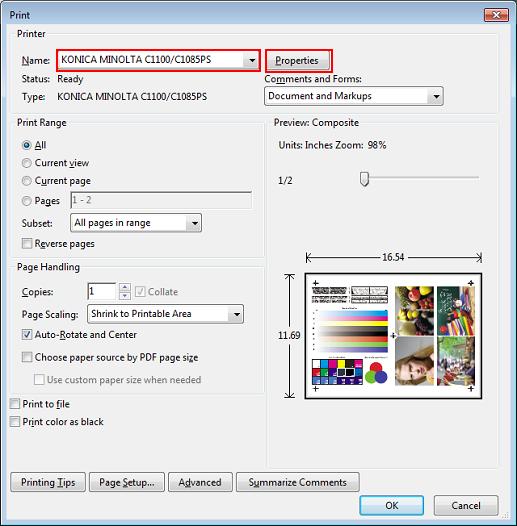 Aplicación de colores alternativos para imprimir con el controlador ...